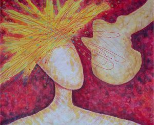 SOM Z TEBA NARUBY 2010 <br/> Zrezervovanosti aká zmena! Výbuch energie, radosti, lásky avášne. <br/> 61 cm x 72 cm